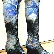 Обувь ручной работы. Ярмарка Мастеров - ручная работа сапоги из тонкого войлока. Handmade.