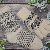 Аксессуары handmade. Livemaster - original item Down Socks and gloves sets. Handmade.