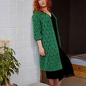 Пальто летнее зеленое