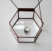 Свадебный салон handmade. Livemaster - original item Box of glass.Wedding box. Jewelry box for rings. Handmade.