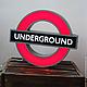 Светящийся знак London Underground