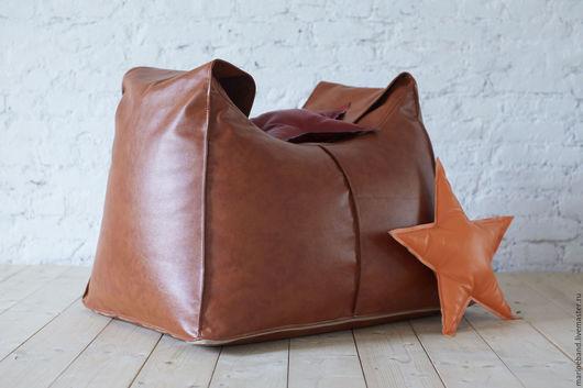 Мебель ручной работы. Ярмарка Мастеров - ручная работа. Купить Кресло-сумка. Handmade. Коричневый, сумка, кожа, экокожа, ткань