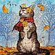 """Набор для вышивки бисером """"Осенний ветерок"""". Наборы для вышивания. ТМ АЛЕКСАНДРА ТОКАРЕВА. Интернет-магазин Ярмарка Мастеров.  Фото №2"""