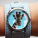 """Часы ручной работы. Ярмарка Мастеров - ручная работа. Купить Часы наручные """"Жираф"""". Handmade. Голубой, часы ручной работы"""