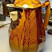 Винтаж handmade. Livemaster - original item Jug with the face of a sailor Kuznetsov. Handmade.