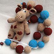 Работы для детей, ручной работы. Ярмарка Мастеров - ручная работа Вязаные слингобусы Жирафик. Handmade.
