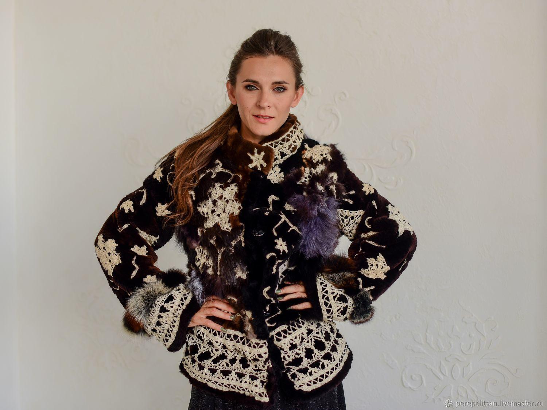 Crochet lace jacket, bridal cape, wedding cape, real fur coat, Fur Coats, Barnaul,  Фото №1