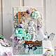 Открытки на день рождения ручной работы. Ярмарка Мастеров - ручная работа. Купить Мятная нежность на рождение малыша, открытка. Handmade.
