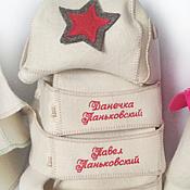 Материалы для творчества handmade. Livemaster - original item Embroidery on bath hat. Handmade.