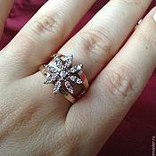 Rings handmade. Livemaster - original item Vasilisa. Gold ring with diamonds and sapphires. Handmade.