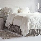 Для дома и интерьера handmade. Livemaster - original item Duvet cover linen flounced bed Shabbychic/Christmas gift. Handmade.