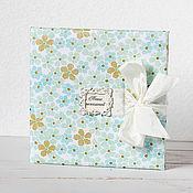 """Свадебный салон ручной работы. Ярмарка Мастеров - ручная работа Книга пожеланий """"Голубые цветы"""". Handmade."""