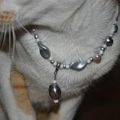 Зоотовары handmade. Livemaster - original item Collars: Silver.. Handmade.