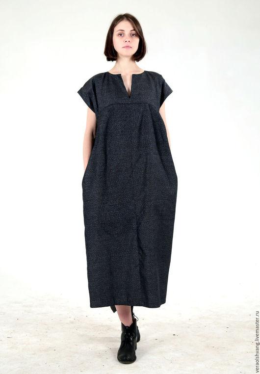 Платья ручной работы. Ярмарка Мастеров - ручная работа. Купить Платье из уникального японского шелка. Handmade. Темно-серый
