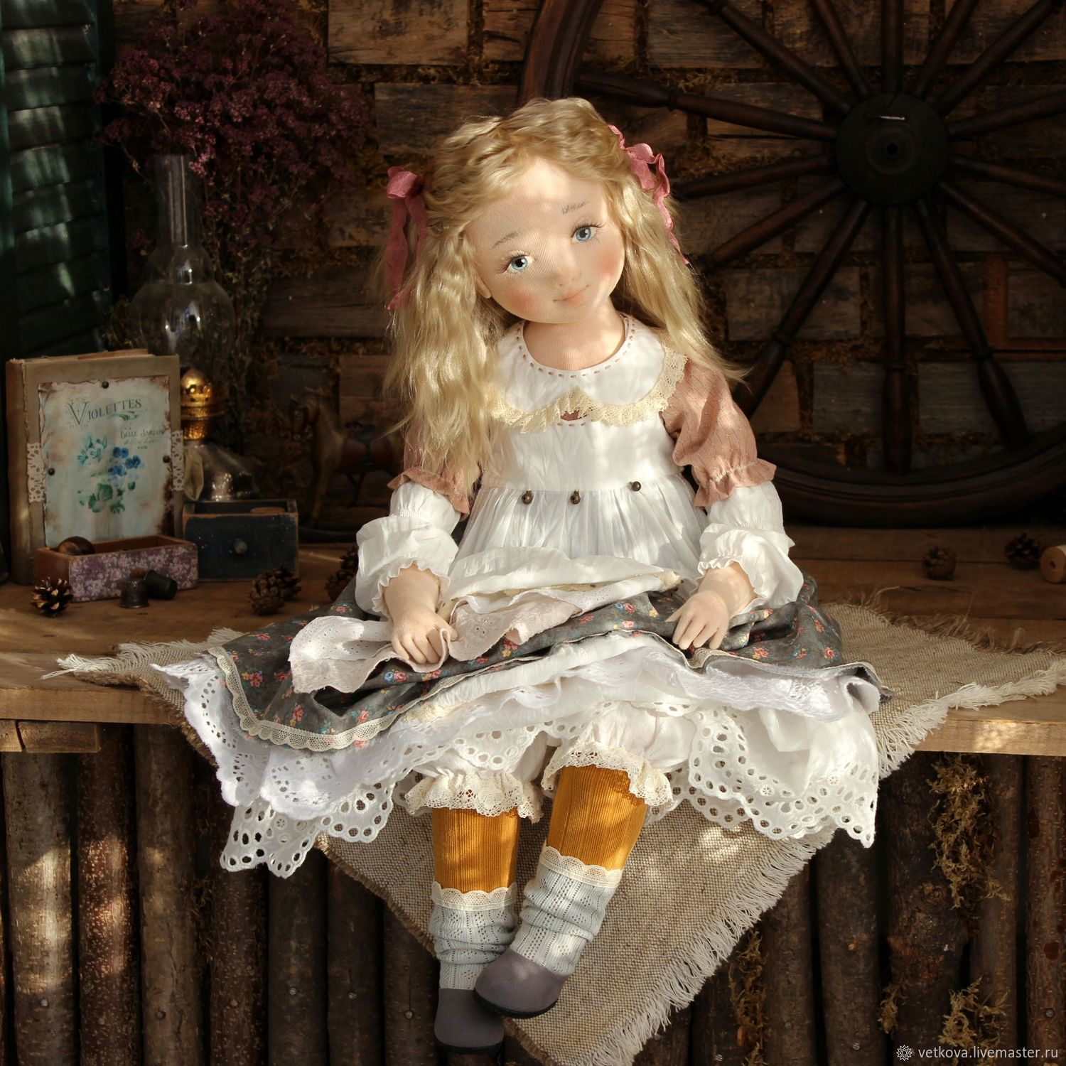 Author's interior collectible doll Autumn sun, Dolls, Kursk,  Фото №1