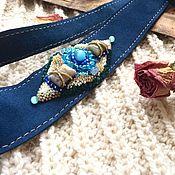 Аксессуары ручной работы. Ярмарка Мастеров - ручная работа Пояс замша, камни, вышивка. Handmade.