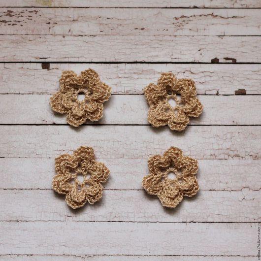 Купить цветы вязанные в магазине для творчества `Цветочки для скрапбукинга`. Цветы крючком. Линия творчества, товары для скрапбукинга