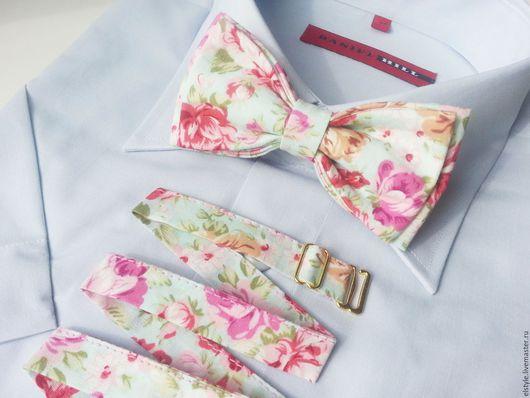 """Галстуки, бабочки ручной работы. Ярмарка Мастеров - ручная работа. Купить Бабочка-галстук """"Rose"""". Handmade. Бабочка на шею, любовь"""