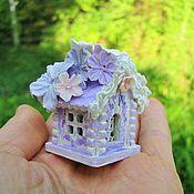 Куклы и игрушки ручной работы. Ярмарка Мастеров - ручная работа Сиреневый цветочный домик  Феи, мини, микро. Handmade.