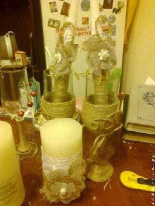 Бокалы, стаканы ручной работы. Ярмарка Мастеров - ручная работа. Купить Декор бокалов. Handmade. Комбинированный, украшение для интерьера
