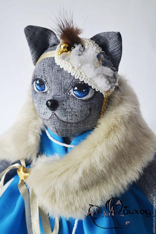 Игрушки животные, ручной работы. Ярмарка Мастеров - ручная работа. Купить Кошка Дейзи. Handmade. Серый, ручная работа handmade