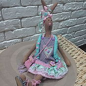 Куклы и игрушки ручной работы. Ярмарка Мастеров - ручная работа Игрушка текстильная Тильда Кролик. Handmade.