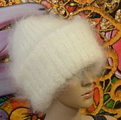 Аксессуары handmade. Livemaster - original item Hat white down double