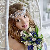 Свадебный салон handmade. Livemaster - original item Wedding wreath. Silver drops.. Handmade.