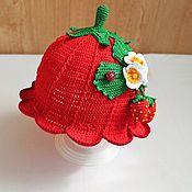 """Аксессуары handmade. Livemaster - original item Panama """"Strawberries"""". Handmade."""