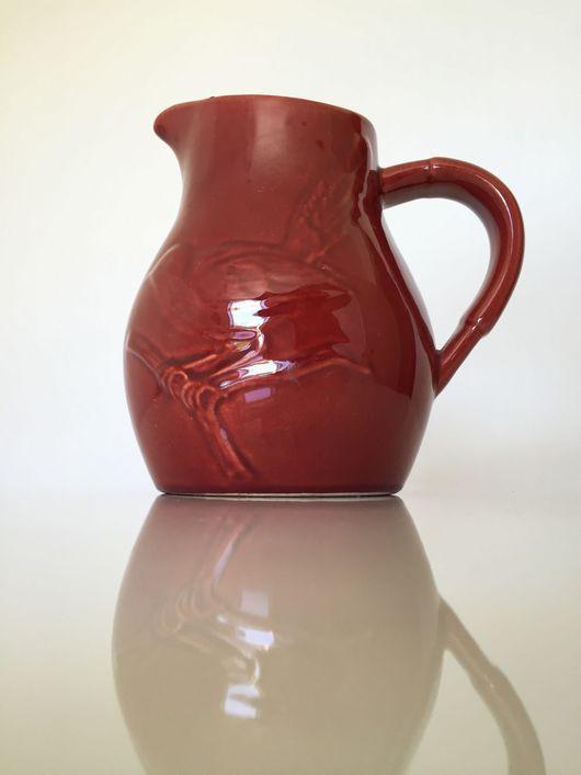 Винтажная посуда. Ярмарка Мастеров - ручная работа. Купить 1960. Кувшин для вина КТО ЛЮБИТ КРАСНОЕ. Handmade. Красный