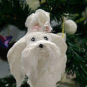 """Куклы и игрушки ручной работы. Ярмарка Мастеров - ручная работа Елочная игрушка  """"Собака символ года- болонка"""". Handmade."""