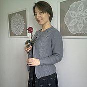 Одежда ручной работы. Ярмарка Мастеров - ручная работа Кофточка с косами. Handmade.