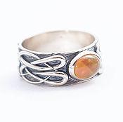 Украшения handmade. Livemaster - original item Ring with opal and cat. Handmade.