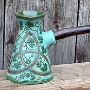 """Посуда ручной работы. Ярмарка Мастеров - ручная работа Турка """"Ирландская весна"""". Handmade."""