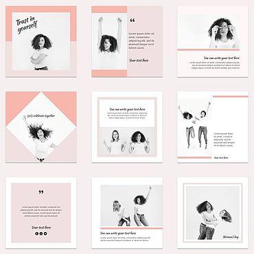 Дизайн и реклама ручной работы. Ярмарка Мастеров - ручная работа Шаблоны для инстаграм 24 + пресеты. Handmade.