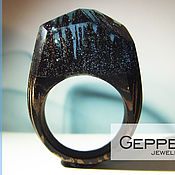 Украшения handmade. Livemaster - original item Wooden ring Sunken Kingdom of 16,0 size. Handmade.