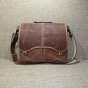 Сумки и аксессуары handmade. Livemaster - original item Men`s bag: Men`s leather messenger bag HECTOR sand. Handmade.