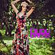 Платья ручной работы. Платье цветочное в пол - 2. Dudu-dress. Интернет-магазин Ярмарка Мастеров. Летнее платье, масло