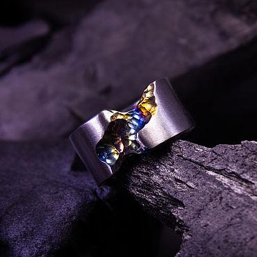 Украшения ручной работы. Ярмарка Мастеров - ручная работа Кольцо из титана. Handmade.