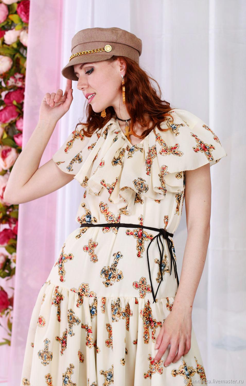 Chiffon dress 'Sewing cross', Dresses, Moscow,  Фото №1