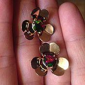 """Серьги классические ручной работы. Ярмарка Мастеров - ручная работа """" Мои любимые цветочки"""" серьги с черными опалами Эфиопии. Handmade."""