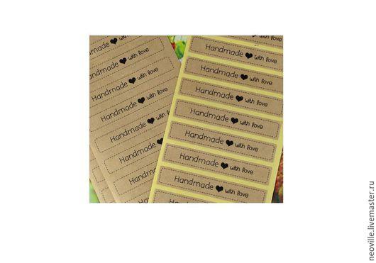 """Упаковка ручной работы. Ярмарка Мастеров - ручная работа. Купить Наклейки (стикер) """"Handmade with love"""". Handmade. Наклейка"""