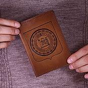"""Сувениры и подарки ручной работы. Ярмарка Мастеров - ручная работа Обложка на паспорт """"Герб Чечни"""". Handmade."""