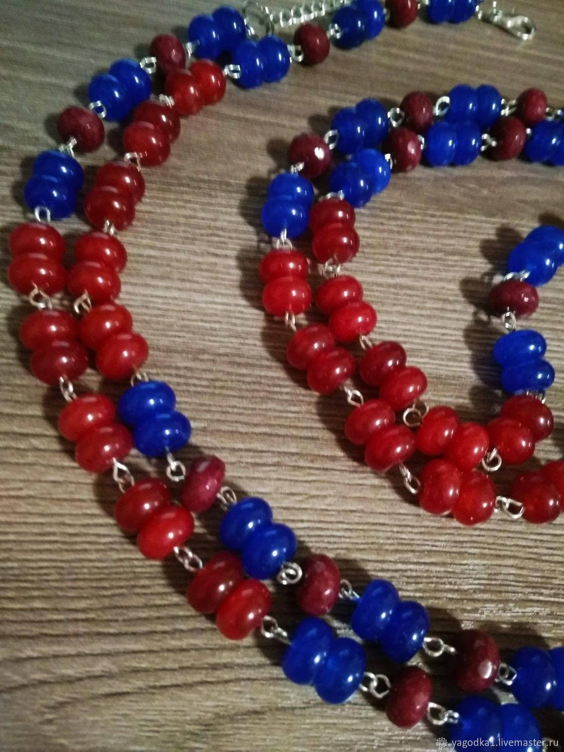 Blue dream, fire of desire  Long beads, 925 silver – shop online on  Livemaster with shipping - HSSBLCOM | Tomsk