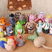 Куклы и игрушки ручной работы. Ярмарка Мастеров - ручная работа Пальчиковый театр.. Handmade.