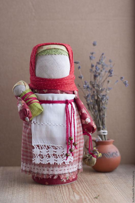 Народные куклы ручной работы. Ярмарка Мастеров - ручная работа. Купить Кукла народная Мамушка Хозяюшка. Handmade. Бордовый, кружево