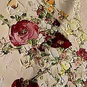 Картины и панно handmade. Livemaster - original item The picture with the roses in the living room bright colors by painting in the bedroom. Handmade.