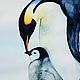 Пингвины. Рис.2. Акварель, бумага Canson 100% хлопок 300 г/м2, Светлана Маркина, LechuzaS
