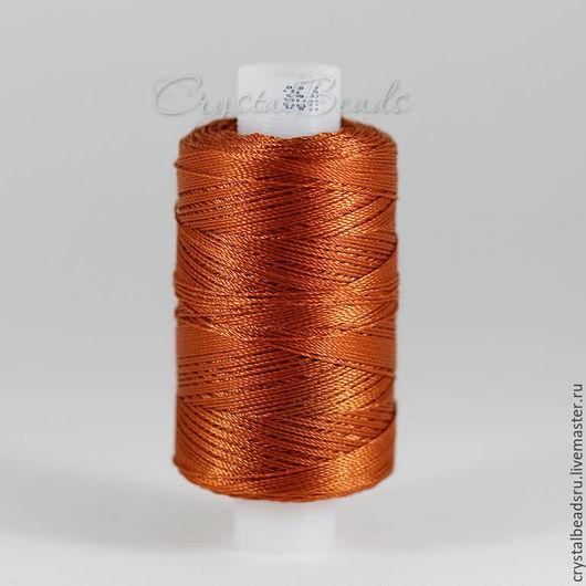 Лавсановые нитки для фриволите и анкарса, для пошива сумок и кожгалантереи. Лавсановые нитки красивого медного цвета.