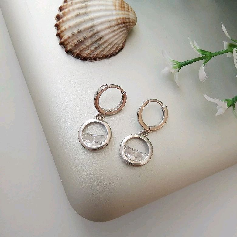Silver set with quartz, round earrings, round pendant, broaches, Jewelry Sets, Kaluga,  Фото №1